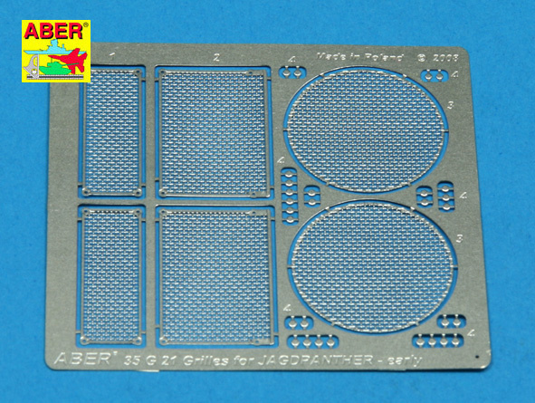Aber Grilles For Jagdpanther Ausf.G1 Early  - Aber - Scale 1-35 - ABR G21