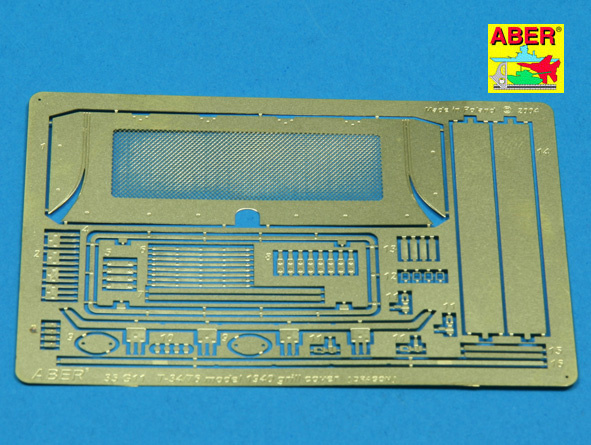 Aber 1-35 T-34-76 Mod.1940 Grille Cover  - Aber - Scale 1-35 - ABR G11