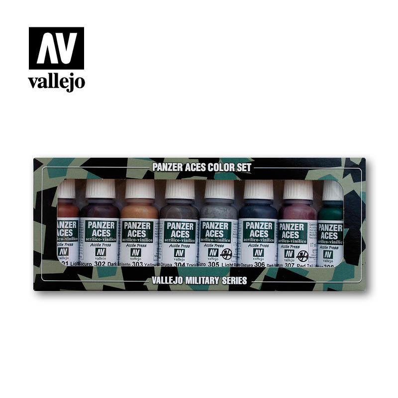 Vallejo Panzer Aces Set No.1 - Vallejo - VAL-70122