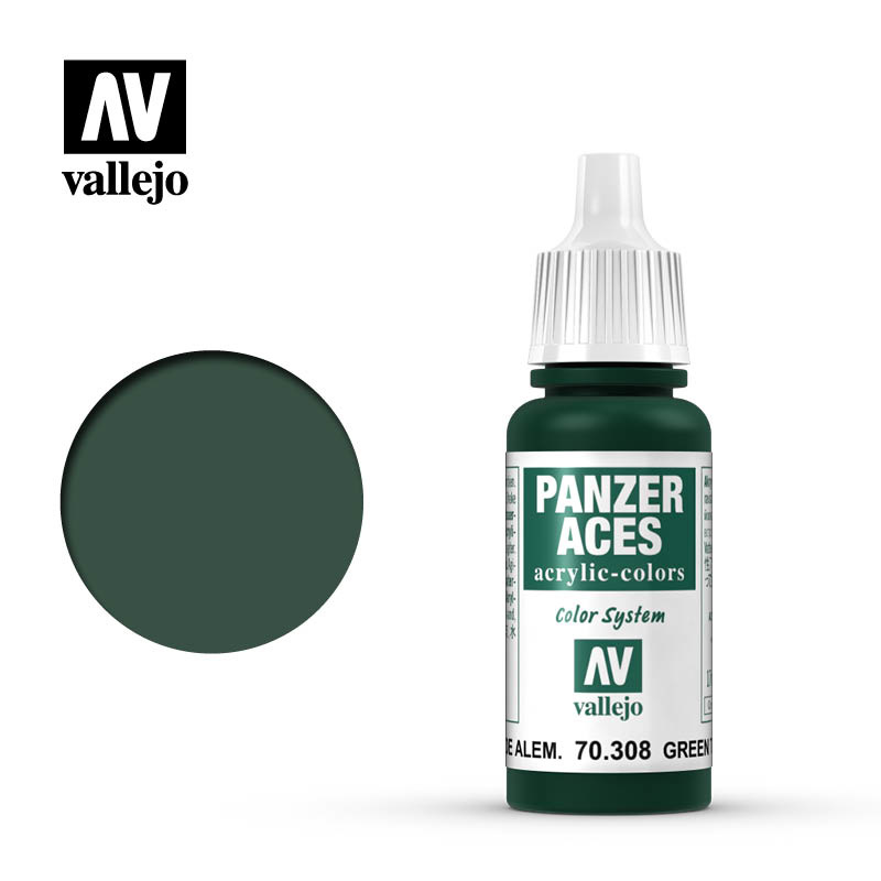 Vallejo Panzer Aces Green Taillight - 17ml - Vallejo - VAL-70308