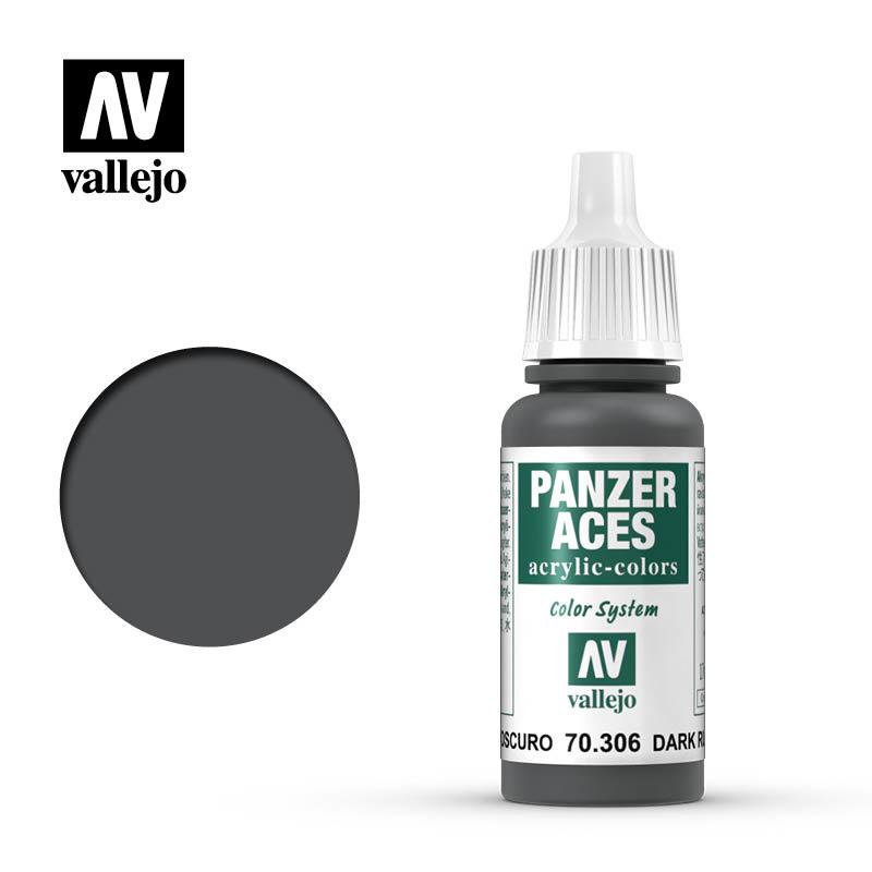 Vallejo Panzer Aces Dark Rubber - 17ml - Vallejo - VAL-70306