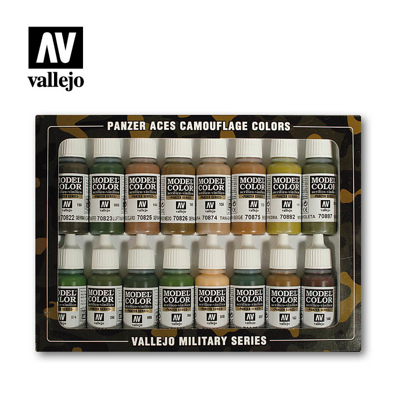 Vallejo Panzer Aces Camouflage Colors - Vallejo - VAL-70179