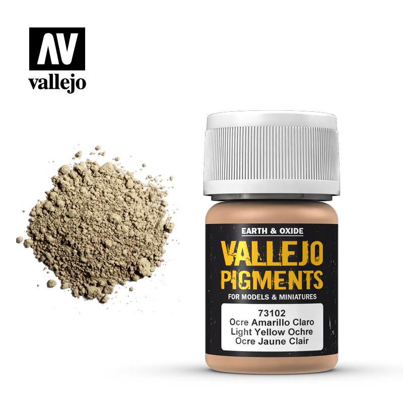 Vallejo Light Yellow Ocre Pigment - 35ml - Vallejo - VAL-73102