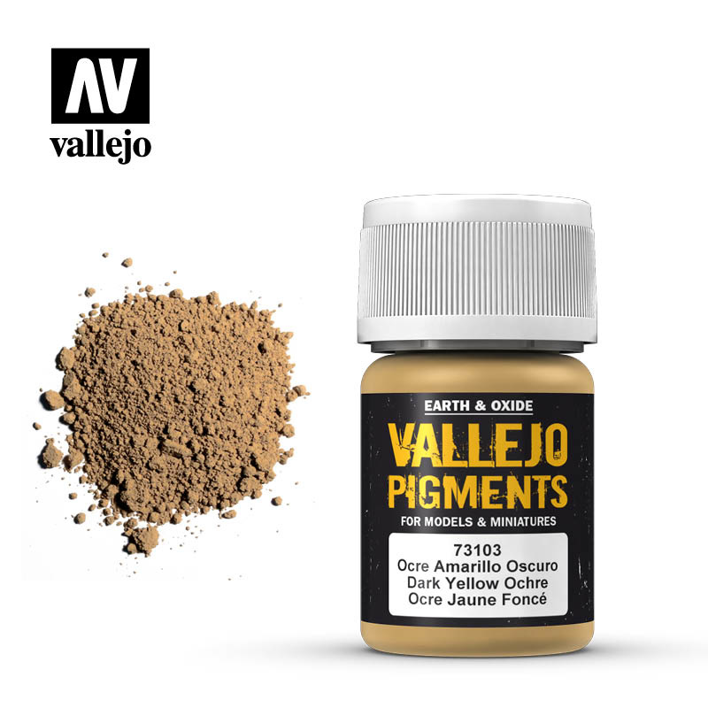 Vallejo Dark Yellow Ocre Pigment - 35ml - Vallejo - VAL-73103