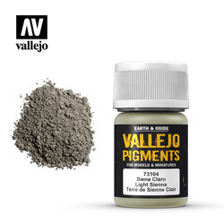 Light Siena Pigment - 35ml - Vallejo - VAL-73104