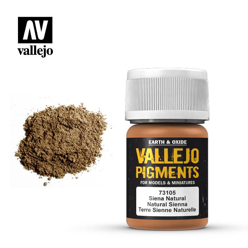Vallejo Natural Siena Pigment - 35ml - Vallejo - VAL-73105