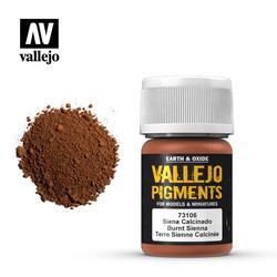 Burnt Siena Pigment - 35ml - Vallejo - VAL-73106