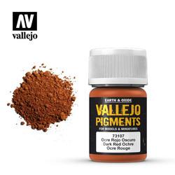 Dark Red Ocre Pigment - 35ml - Vallejo - VAL-73107