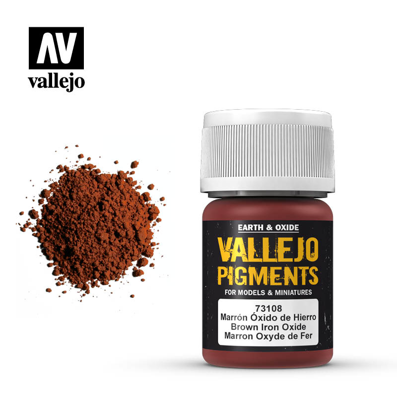 Vallejo Brown Iron Oxide Pigment - 35ml - Vallejo - VAL-73108