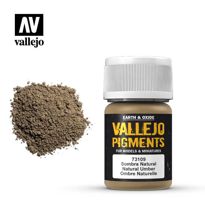 Vallejo Natural Umber Pigment - 35ml - Vallejo - VAL-73109