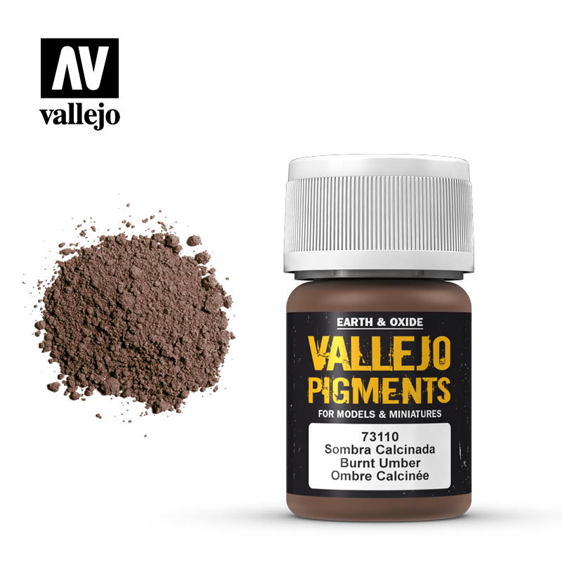 Vallejo Burnt Umber Pigment - 35ml - Vallejo - VAL-73110