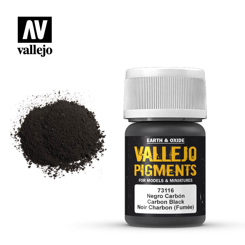 Vallejo Carbon Black Pigment - 35ml - Vallejo - VAL-73116