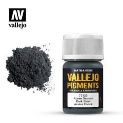 Dark Steel Pigment - 35ml - Vallejo - VAL-73123