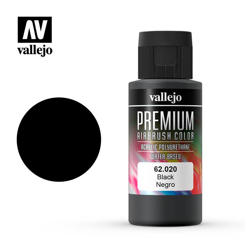 Vallejo Premium Color Black - 60ml - Vallejo - VAL-62020