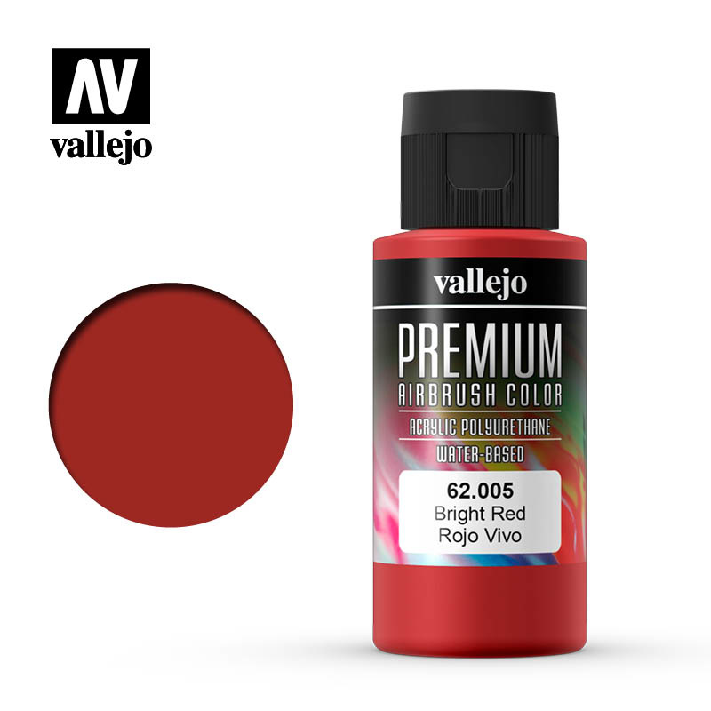 Vallejo Premium Color Bright Red - 60ml - Vallejo - VAL-62005