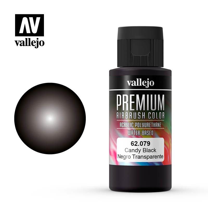 Vallejo Premium Color Candy Black - 60ml - Vallejo - VAL-62079