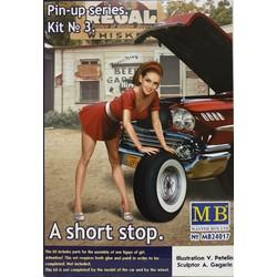 """""""Pin-up series. A short stop. Kit No. 3"""" - Masterbox - MBLTD24017"""