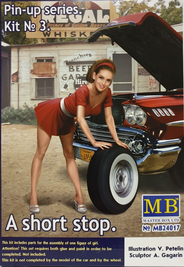 """Masterbox """"Pin-up series. A short stop. Kit No. 3"""" - Masterbox - MBLTD24017"""