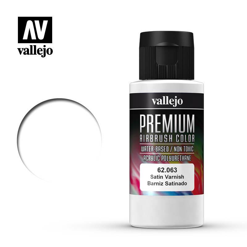 Vallejo Premium Color Satin Varnish - 60ml - Vallejo - VAL-62063