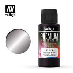 Premium Color Metallic Black - 60ml - Vallejo - VAL-62053