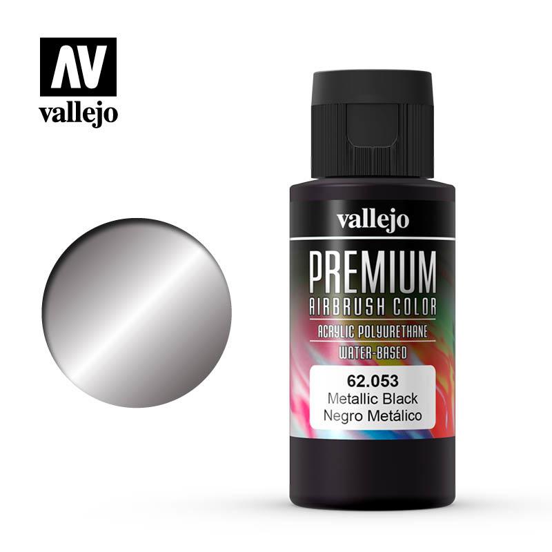 Vallejo Premium Color Metallic Black - 60ml - Vallejo - VAL-62053