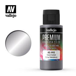Premium Color Gunmetal - 60ml - Vallejo - VAL-62052