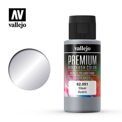 Premium Color Steel - 60ml - Vallejo - VAL-62051