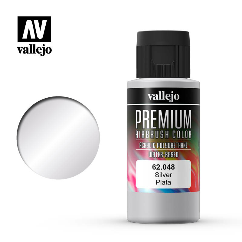 Vallejo Premium Color Silver - 60ml - Vallejo - VAL-62048