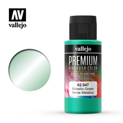 Premium Color Metallic Green - 60ml - Vallejo - VAL-62047