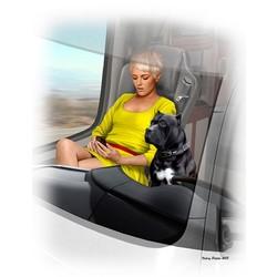 """""""Truckers series. Joni (Lookout) Johnson & her dog Maxx""""  - Masterbox - MBLTD24045"""