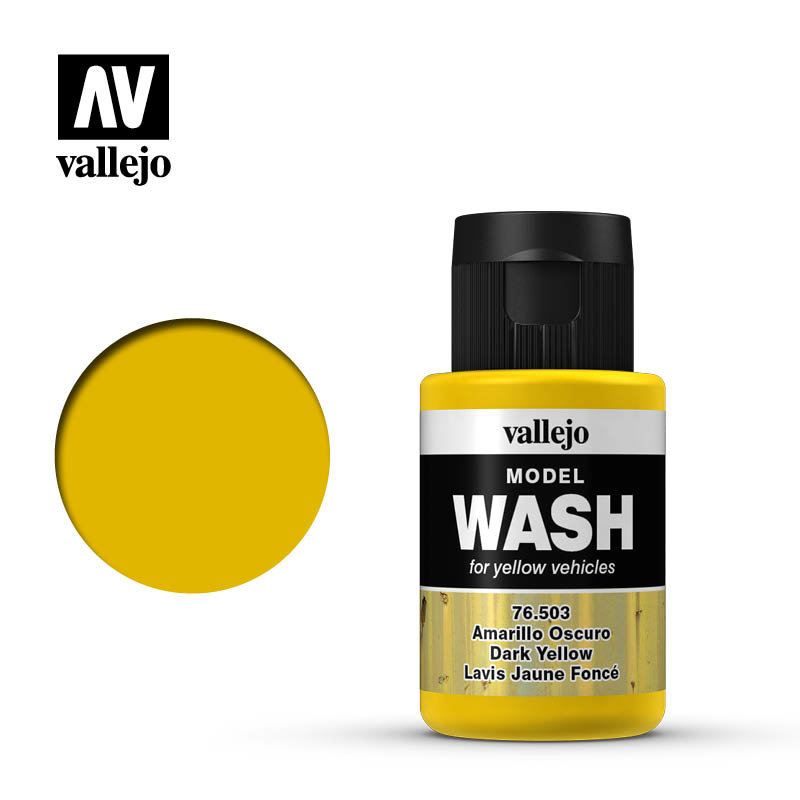 Vallejo Model Wash Dark Yellow - 35ml - Vallejo - VAL-76503