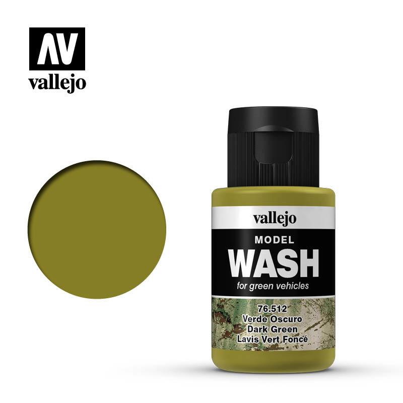 Vallejo Model Wash Dark Green - 35ml - Vallejo - VAL-76512