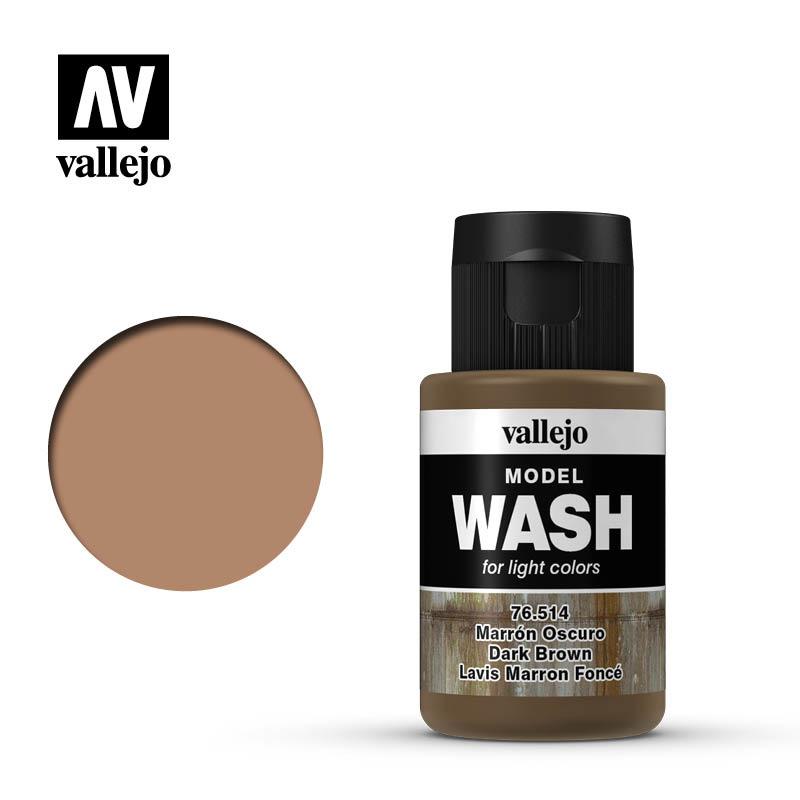 Vallejo Model Wash Dark Brown - 35ml - Vallejo - VAL-76514