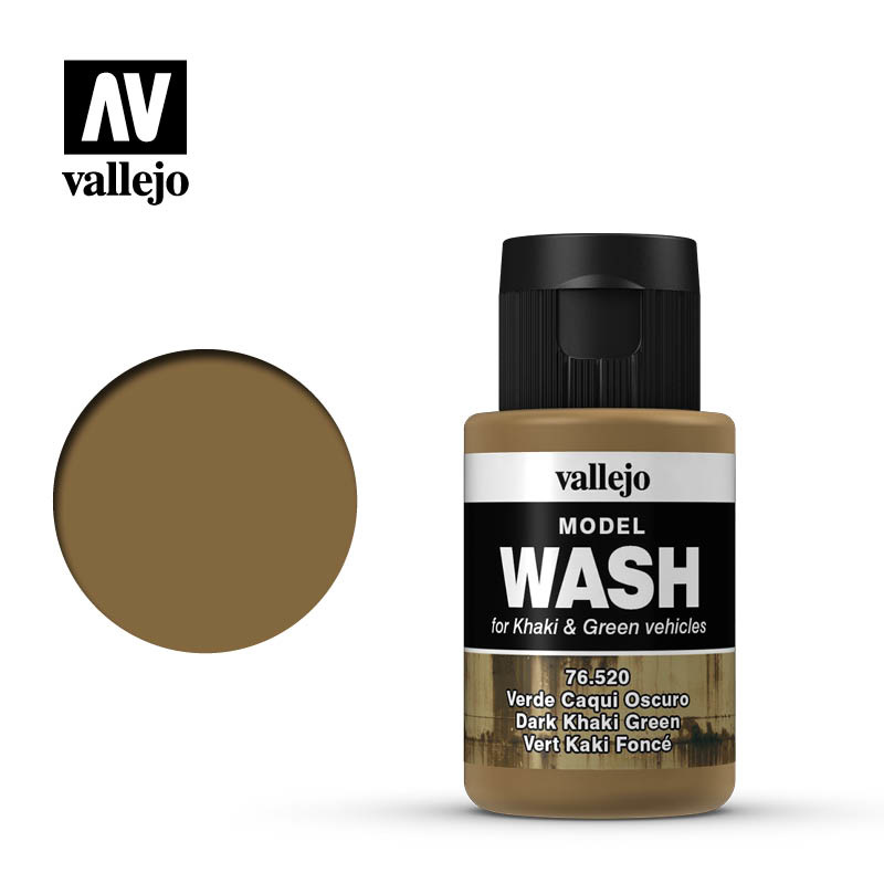 Vallejo Model Wash Dark Khaki Green - 35ml - Vallejo - VAL-76520