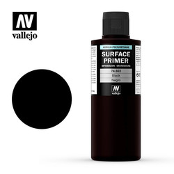 Primer Black - 200ml - Vallejo - VAL-74602