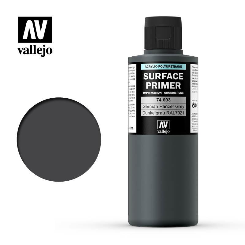 Vallejo Primer Panzer Grey - 200ml - Vallejo - VAL-74603