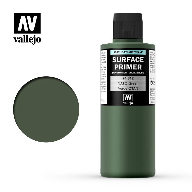 Vallejo Primer NATO Green - 200ml - Vallejo - VAL-74612