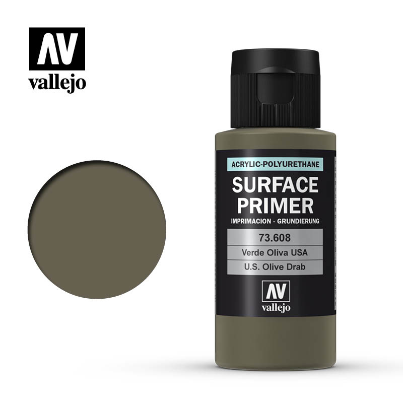 Vallejo Primer USA Olive Drab - 60ml - Vallejo - VAL-73608