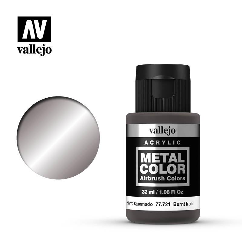 Vallejo Metal Color Burnt Iron - 32ml - Vallejo - VAL-77721
