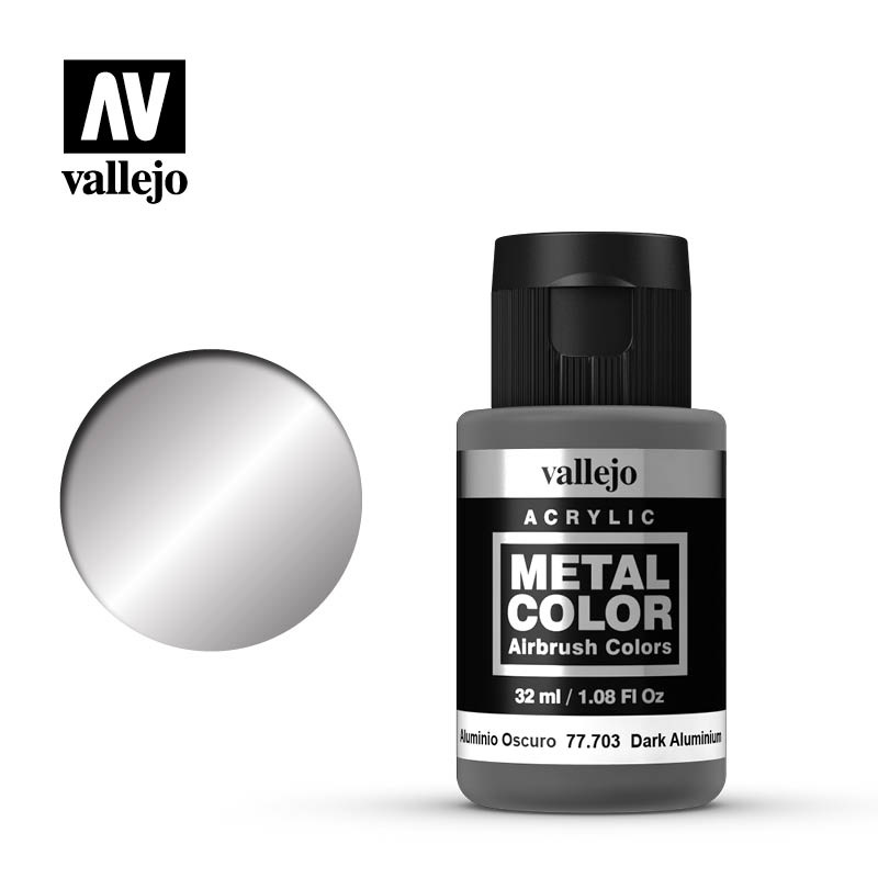 Vallejo Metal Color Dark Aluminium - 32ml - Vallejo - VAL-77703