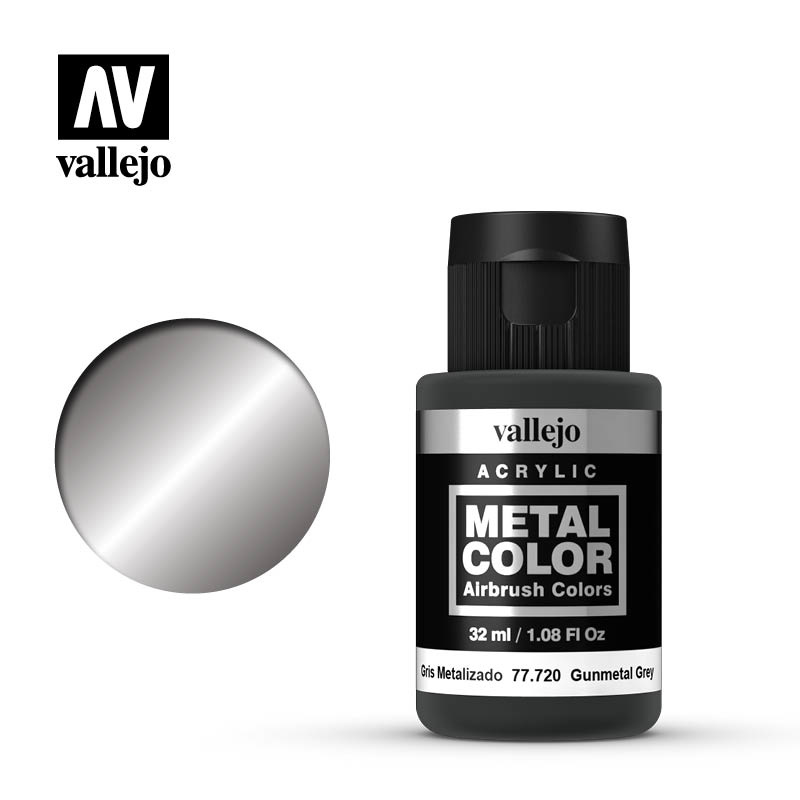Vallejo Metal Color Gunmetal Grey - 32ml - Vallejo - VAL-77720
