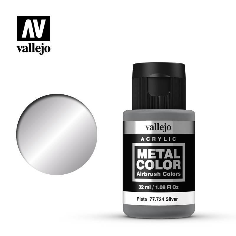 Vallejo Metal Color Silver - 32ml - Vallejo - VAL-77724