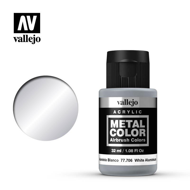 Vallejo Metal Color White Aluminium - 32ml - Vallejo - VAL-77706