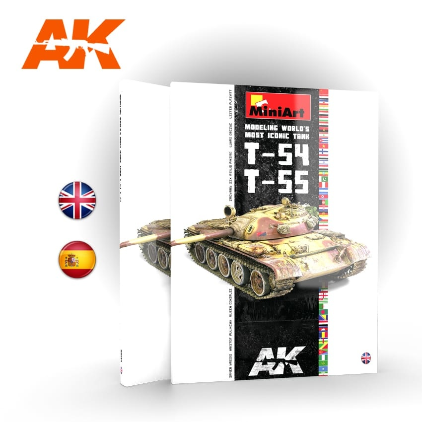 AK-Interactive T-54/T-55 Modeling World'S Most Iconic Tank - English