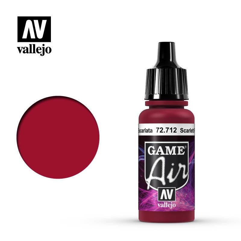 Vallejo Game Air - Scarlett Red - 17 ml - Vallejo - VAL-72712