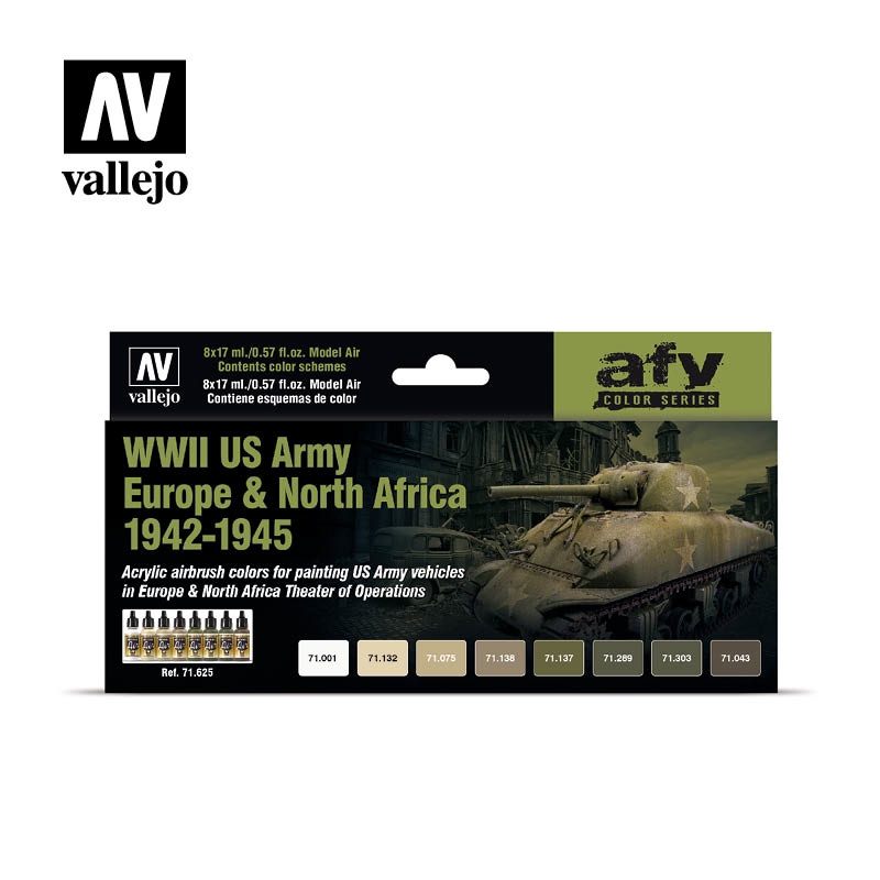 Vallejo Model Air - Wwii Us Army Europe & North Africa 1942 - Vallejo - VAL-71625