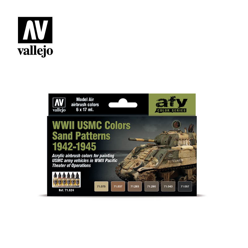 Vallejo Model Air - Wwii Usmc Colors Sand Patterns 1942-1945 - Vallejo - VAL-71624