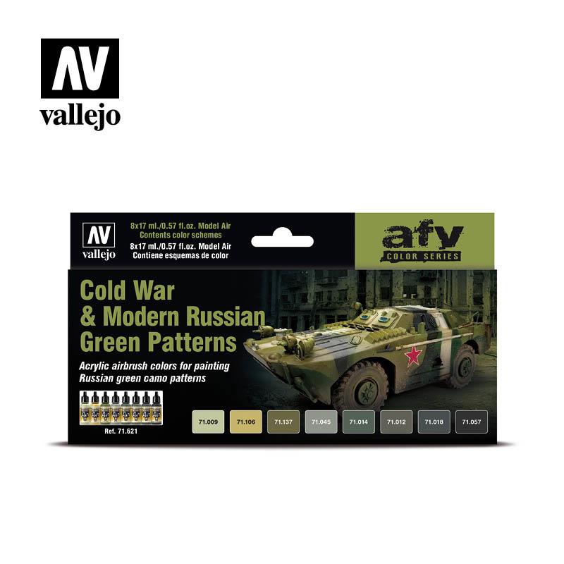 Vallejo Model Air - Cold War & Modern Russian Green Patterns - Vallejo - VAL-71621