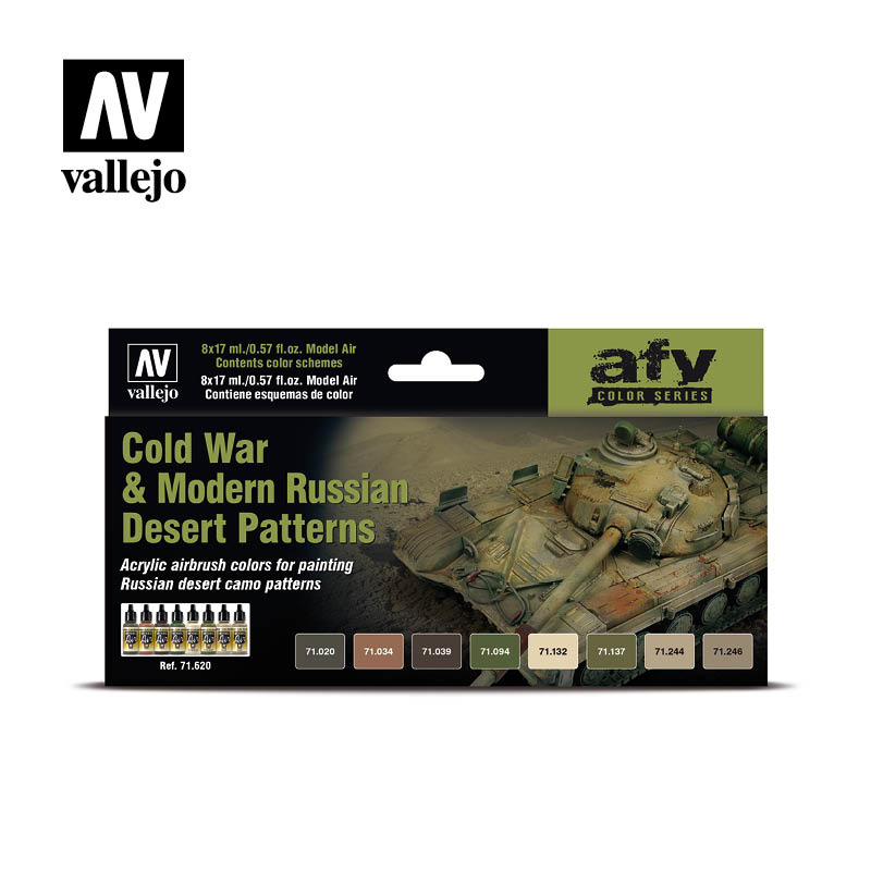 Vallejo Model Air - Cold War & Modern Russian Desert Pattern - Vallejo - VAL-71620