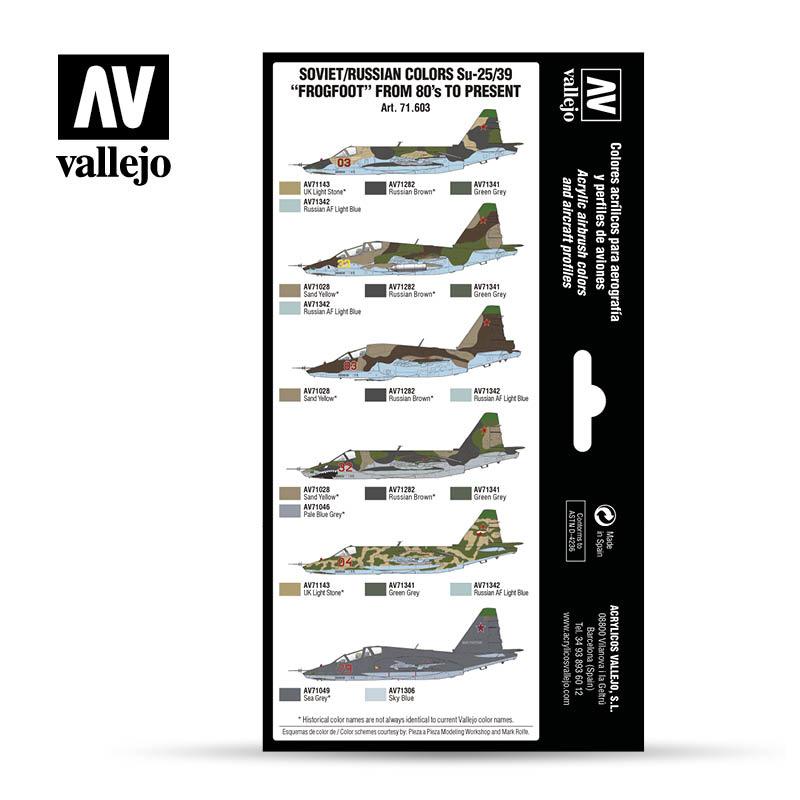 Vallejo Model Air - Soviet - Russian Colors Su-25/39 Frogfoot - Vallejo - VAL-71603